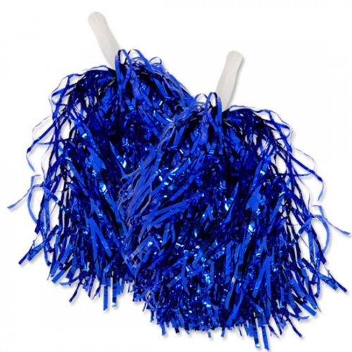 Wibel GmbH Paar Tanzwedel Pompon Cheerleader Puschel funkelnd blau