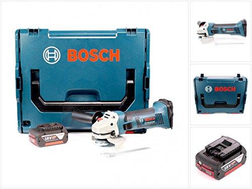 Bosch GWS 18-125 V-LI haakse slijper met accu, 18 V, 125 mm, inclusief 1 accu, 5,0 Ah + L-Boxx, zonder oplader