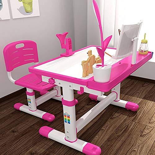 Chlyuan-hm Activity Table Kind Tisch und Stuhl Kinder Schreibtisch und Stuhl Set Kids Studie Tisch for Junge Mädchen Drawer Bleistift Slot Kids School Workstation zu Studienzwecken