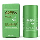 Green Tea Cleansing Mask for Face, Green Tea Purifying Clay Stick Face Mask for Moisturizing Skin Fits for Men & Women
