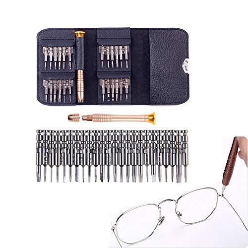 NLYWB 25 in 1 schroevendraaierset, Mini precisie schroevendraaierset, professionele elektronische reparatie voor pc, bril, mobiele telefoon, laptop, horloge