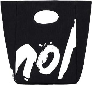 NOL Reversible Canvas Lunch Bag Cotton Featured Top Handle Handy BagsNOL Reversible Canvas Lunch Bag Cotton Featured Top H...