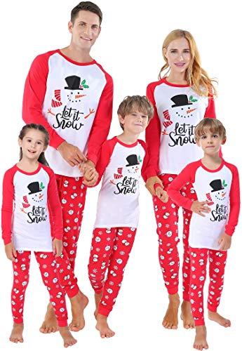 Matching Family Christmas Snowman Pajamas Baby Boys Clothes Toddler Girls Pyjamas Kids 5 Years