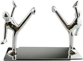おしゃれ シルバー小人 さびない鋼鉄製 ブックエンド 本立て ブックスタンド ブックオーガ ナイザー 学校 部屋 卓上収納 机と本棚の飾り物 置物 インテリア  (キック)