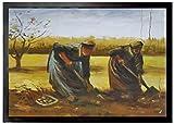 1art1 Vincent Van Gogh - Dos Campesinas Sacando Patatas, 1885 Felpudo Alfombra (70 x 50cm)