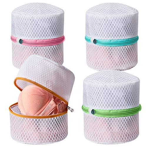 Amazon Brand - Umi Bolsas de lavandería de sujetador de malla, bolsas para la colada con cremallera premium, bolsa de viaje para ropa interior y lencería íntima - 4 piezas