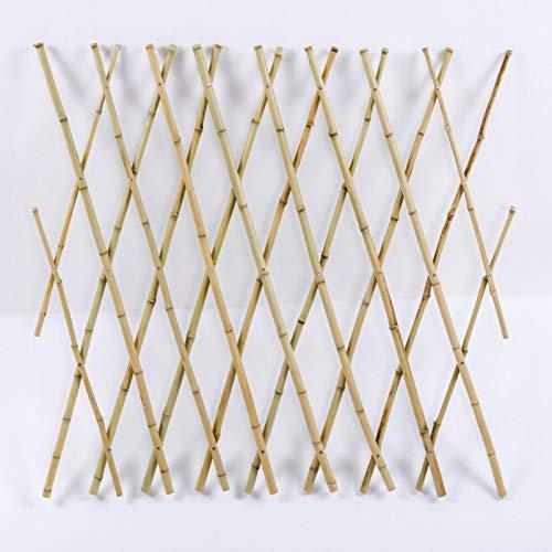 PIGMAMA Erweiterbarer Bambus-Zaun für den Außenbereich, Hof und Garten, natürliches Finish, Bambuspfähle für Rankpflanzen