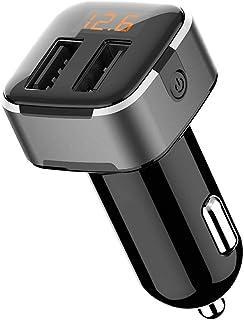 comprar comparacion wooshop Cargador Mechero Coche, Cargador de Coche con Doble Puerto USB LED Cargador Móvil Adaptador Cargador de Coche para...