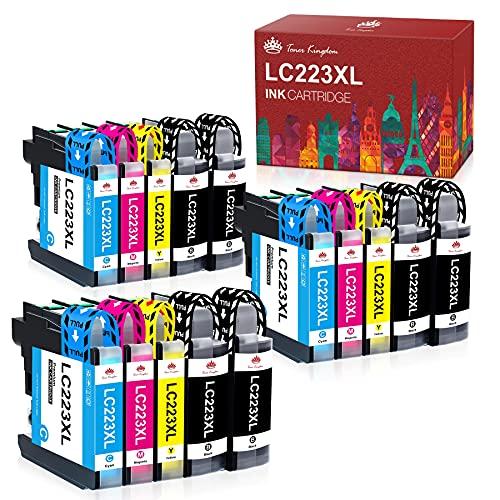 Toner Kingdom LC223 LC223XL Druckerpatronen Kompatibel Austausch für Brother DCP J4120DW DCP-J562DW MFC-J5625DW J4625DW J5320DW J5720DW J880DW J5620DW J680DW J4420DW J4620DW J480DW (Paquete de 15)