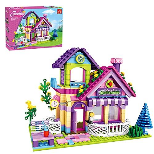 Loads Casa - Set di mattoncini da costruzione, 507 pezzi, per fioriera modulare, modello per fioriera, compatibile con LEGO