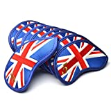 GOOACTION 9PCS/Set USA Golf Club Iron Covers American Stars and Stripes Flag Pattern Thick Synthetic Leather Patriotic Head Covers 4,5,6,7,8,9,P,S,A