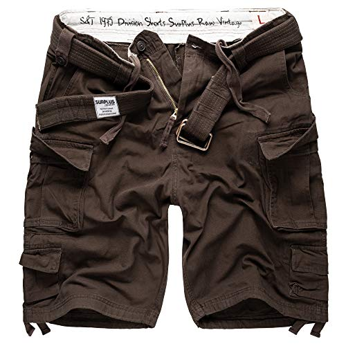 Surplus Raw Vintage Division Herren Cargo Shorts, braun, 5XL