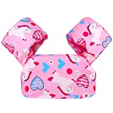 Biange Toddler Swim Vest, Toddler Floatie for Kids 30-50 lbs, Baby Pool Float for Swimming Aid, Boys/Girls Learn to Swim (Pink Heart)