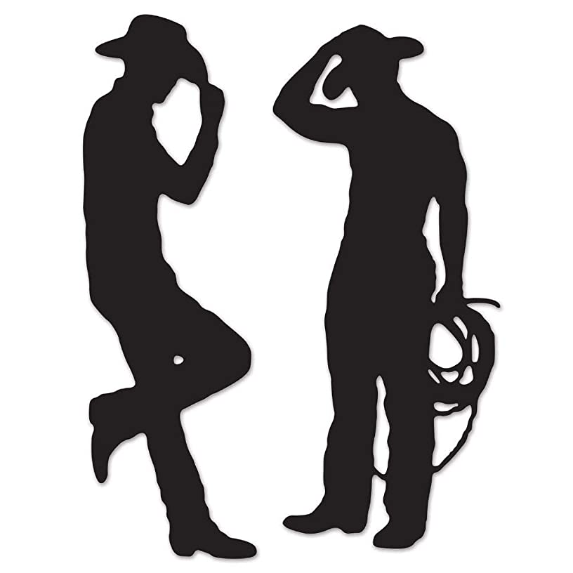 Beistle 54225 Cowboy Silhouettes, 35-Inch and 37-Inch