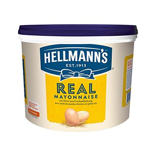 Hellmann's Real Mayonnaise (mit Rapsöl, ideal als Pommes und Burger Sauce und für Salat Dressings), 1er Pack (1 x 5 l)