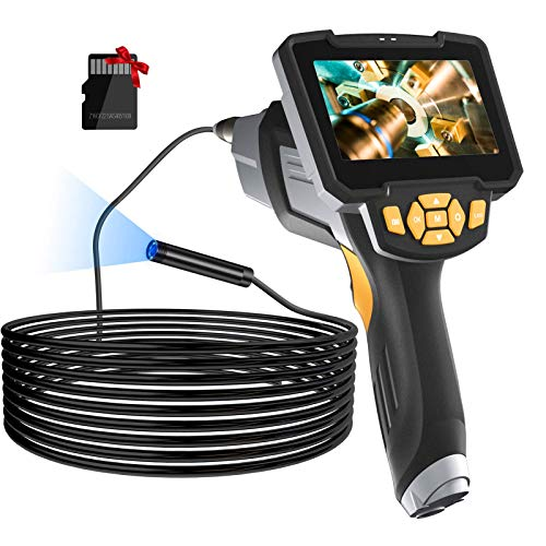 "Borescope Inspection Camera, LONOVE Upgraded 1080P HD Detachable & Waterproof Endoscope Camera Snake Camera with 4.3"" LCD Screen, 6 Bright LED Lights, 32GB Card, 16.5FT Cable, for Car/Sewer/Drain/Home"