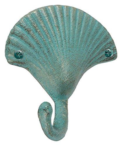 Abbott colección de hierro fundido gancho de pared de concha marina, luz verde