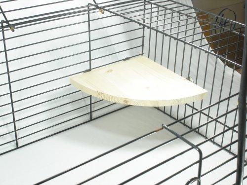 Elmato - 10406 - Étagère pour cage - Épicéa massif - 22 x 22 cm