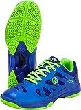 Oliver P-400 Chaussures d'intérieur Squash Badminton Handball 2019/20, Blanc/Bleu, 46