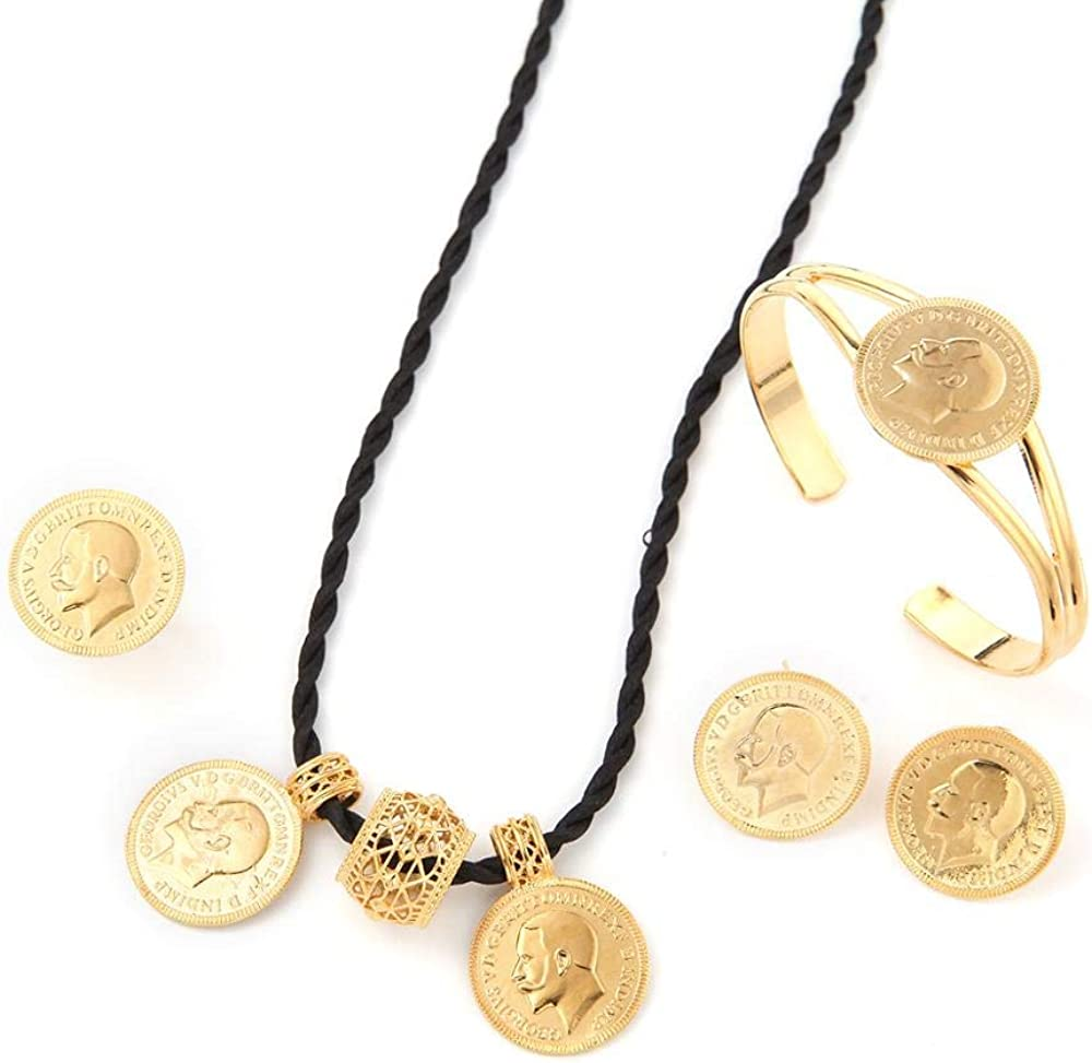 SWAOOS 24K Gold Color Ethiopian Coins Regular store E Set Women Bridal Challenge the lowest price of Japan Jewelry