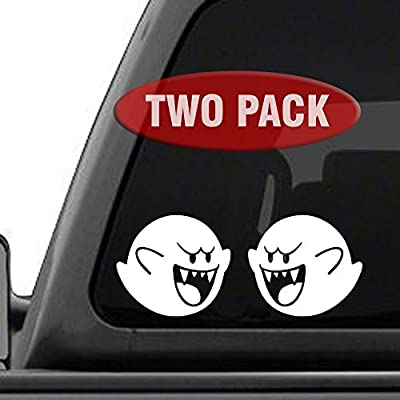 Signage Cafe Boo Super Mario Brothers - Two Pack - Vinyl Decals for car, Truck, JDM, Laptop