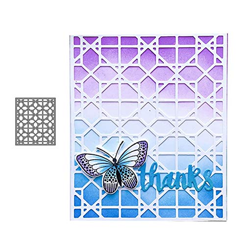KKYHV Rechteckgitter Hintergrund Metallschneidwerkzeuge Scrapbooking Craft Mold Cut Die Schablone Handmade Tool Paper Card Make Template