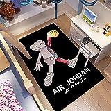 CXJC Alfombra de la marca de la moda rectangular, alfombra de la cama de la habitación de la bahía de la habitación, KAWS Estudio de la sala de estar Silla giratoria Matera de la puerta, 160 * 100 * 0
