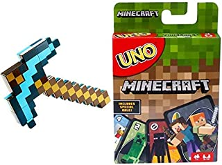 Minecraft Transforming Sword & Pickaxe [Amazon Exclusive] AND UNO Minecraft Card Game