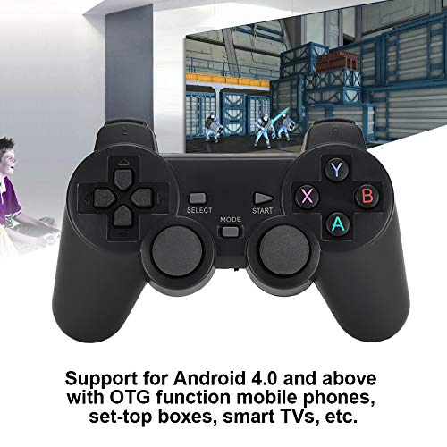 AMONIDA Universal 2.4G Smart Game Controller Kabelgebundener Controller für TV/TV-Box/PS3/Computer/PC360/Mobiltelefon/für Android-Maschine Vibrationsfreie Doppelwippe