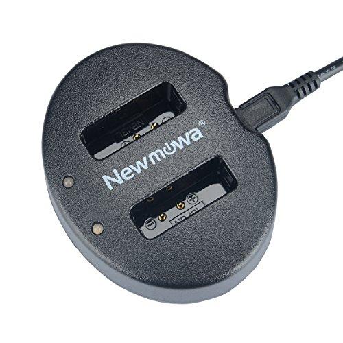 Newmowa Doppio Caricatore USB per Canon NB-13L, Canon PowerShot G5X G7X G9X G7 X Mark II G9 X Mark II SX620 HS SX720 HS SX730 HS SX740 HS