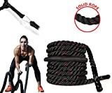 Body Well 新品 Battle Rope,Anchor Strap Kit/ - Upgraded Exercise Training Rope of High Tensile Strength Poly Dacron/Undulation Battle Ropes for Strength Training, Cardio Workout, Crossfit (30)
