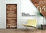 Vinilo para Puerta | Stickers Door | Pegatina Puerta | Madera Relieve (204x83)