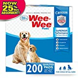 Wee-Wee Puppy Training Pee Pads 200-Count 22' x 23' Standard Size Pads for Dogs