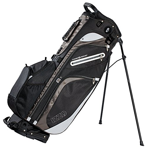 Izzo Golf Versa Riding/Walking Hybrid Black and Grey and Golf Stand Bag