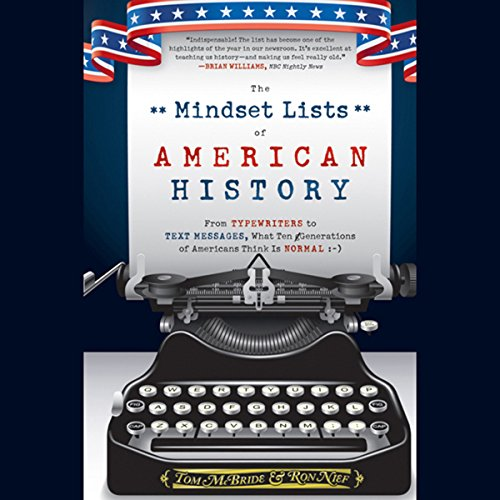 The Mindset Lists of American History audiobook cover art
