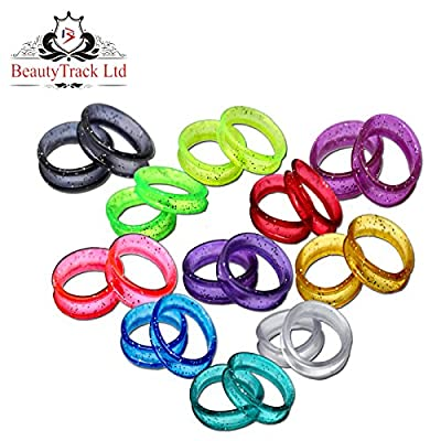 Hair Scissors Finger Ring Inserts for Hairdressing Barber Scissors, Shears in Sparking Colours Scissor ring Inserters - Finger Rings X 22 With Free Delivery by BeautyTrack
