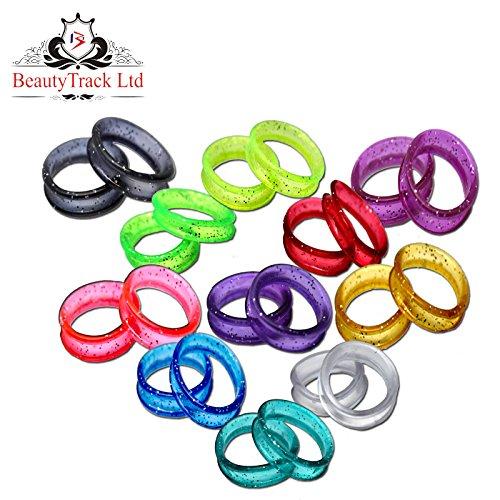 Inserts à anneaux pour coiffeur Ciseaux à coiffeur, ciseaux en couleurs scintillantes Inserts à ciseaux/anneaux à doigt X 22 + pochette
