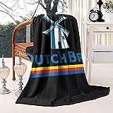 LSHOEJFVG Dutch-Bros-Coffee-Logo- 60X80 Inch Fleece Blanket Flannel Fleece Blanket Weighted Blanket Sherpa Blanket Couch Bed Blanket
