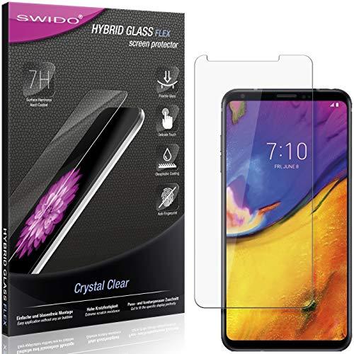 SWIDO Panzerglas Schutzfolie kompatibel mit LG V35 ThinQ Bildschirmschutz-Folie & Glas = biegsames HYBRIDGLAS, splitterfrei, Anti-Fingerprint KLAR - HD-Clear
