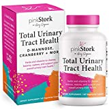 Pink Stork Total Urinary Tract Health: Cranberry Pills for Urinary Tract + D-Mannose + UTI Health, Support Urinary Tract Health + Fast-Acting UTI Symptom Relief, Women-Owned, 60 Capsules