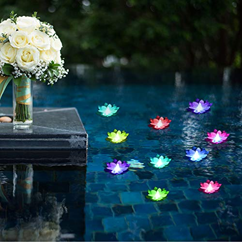 Floating Pool Lights,Battery Powered Floating Flowers,Pond Decor,Floating Pool Flower Lights Color-Changing -for Wedding Outdoor Party Decor 6 Pcs (Dragonfly)