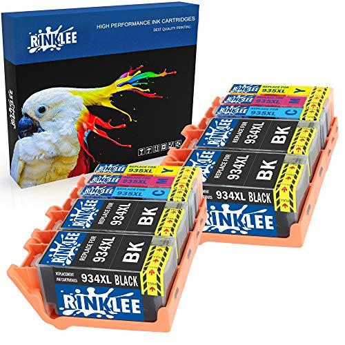 RINKLEE 10 Compatibles 934XL 935XL 934 935 XL Alta Capacidad Cartuchos de Tinta Reemplazo para HP OfficeJet Pro 6830 6230 6220 6825 6835 OfficeJet 6820 6815 6812