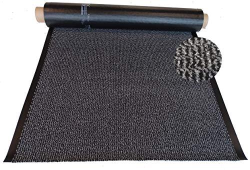 Mertex Schmutzfangläufer Meterware 90 cm grau-schwarz meliert (90 x 180 cm, Schnittkante ohne Rand)
