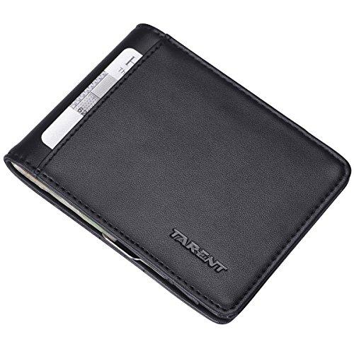 Kreditkartenetui mit GELDKLAMMER und aus Echt-Lede,Kreditkartenhalter mit RFID S...
