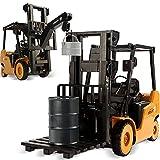 Asinean 1: 8 Model Engineering Car Series Toys 2.4 GHz 11 Channel Carretillas Elevadoras RC Profesionales Camiones de Construcción Juguetes con Luces Sonidos para Niños de 3 Años en Adelante