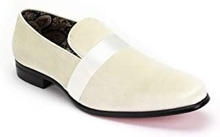 AFTER MIDNIGHT 6660 Velvet Smoker Strap Smoking Slipper Loafer Slip on High Fashion Dress Shoe
