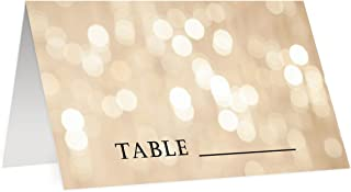 Bokeh Place Cards Pack of 50 Wedding Sparkling Table Placecards Scored 3.5