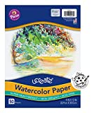 UCreate Watercolor Paper, White, Package, 140 lb., 9' x 12', 50 Sheets