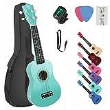 High Gloss Soprano Basswood Ukulele 21inch Starter Kit for Beginner with Gig Bag, Kids Ukulele Uke Hawaii Mini Guitar for Kids Adults and Beginners