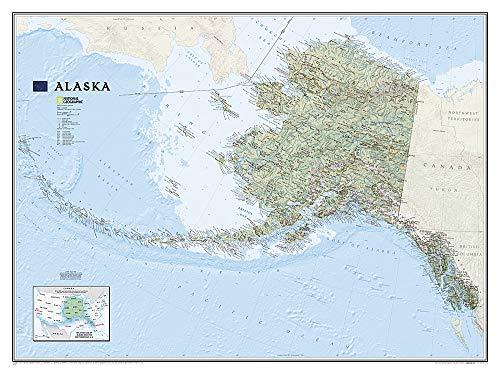Alaska, laminiert: NATIONAL GEOGRAPHIC Länder und Regionen: Wall Maps U.S. (National Geographic Reference Map)